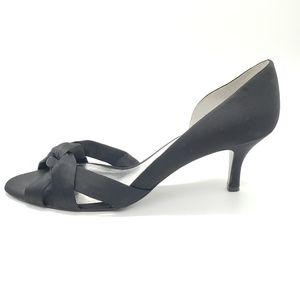 Nina New York satiny material formal open toe heel